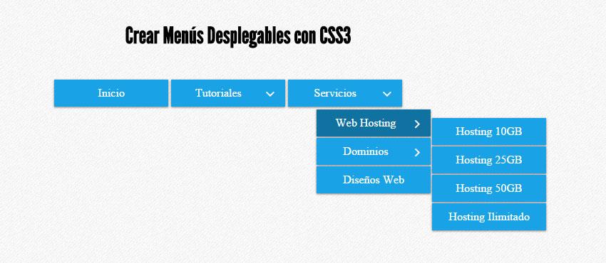 Menú Desplegable con HTML y CSS