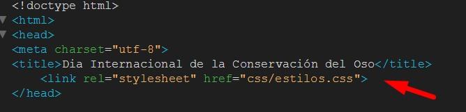 vinculando html con css