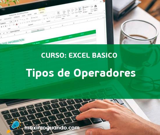 Tipos de Operadores en Excel