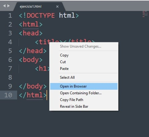 ver en navegador sublime text 3